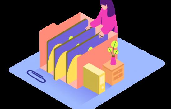 Files And Folder_Isometric